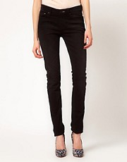 Denham Cleaner Black Skinny Jeans
