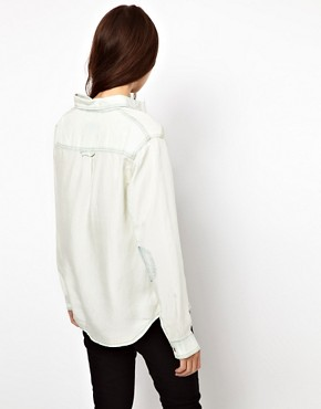 Image 2 ofASOS Bleach Tencel Denim Shirt