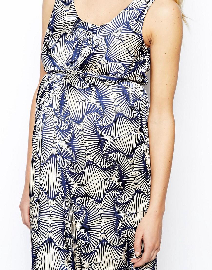 Image 3 ofMamalicious Sleeveless Printed Dress
