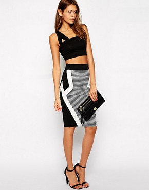 Lipsy Mono Bodycon Skirt