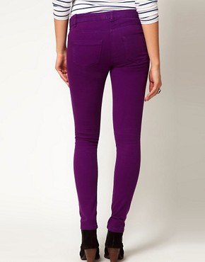 Image 2 ofASOS Maternity Exclusive Skinny Jeans in Purple
