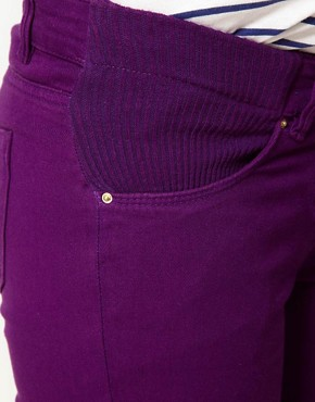 Image 3 ofASOS Maternity Exclusive Skinny Jeans in Purple
