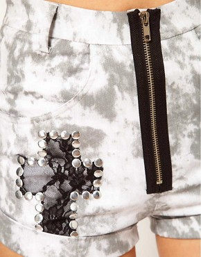 Image 3 ofThirty Four Disciples Stud Denim Shorts