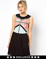 Oasis Patched Print Dress