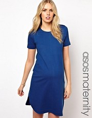 ASOS Maternity Shift Dress In Denim Look