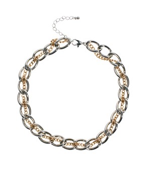 Image 1 ofASOS Chain Thread Necklace