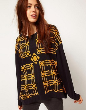 Image 1 ofA Question Of Patterned Organic Sweatshirt