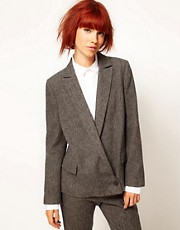 Chalayan Grey Line Zip Back Blazer