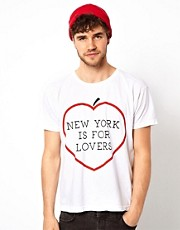 American Apparel T-Shirt With NY Lover Print