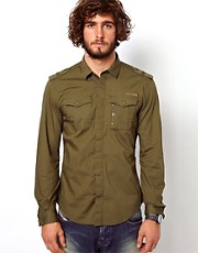 Diesel Shirt Military Roll Sleeve Siranella