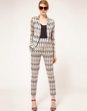 Image 4 - ASOS - Blazer sans boutons imprim chevrons