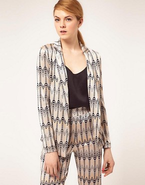 Image 1 - ASOS - Blazer sans boutons imprim chevrons