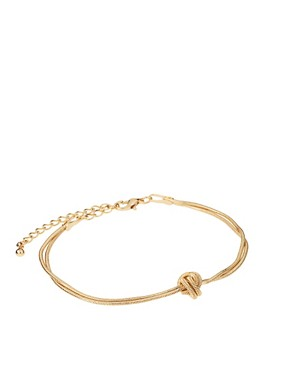 Image 1 ofASOS Ditsy Snake Knot Bracelet