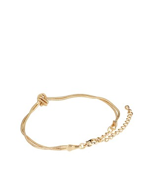 Image 2 ofASOS Ditsy Snake Knot Bracelet