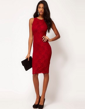 Image 4 ofASOS PETITE Exclusive Lace Midi Dress