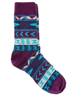 Image 1 ofASOS Aztec Pattern Socks