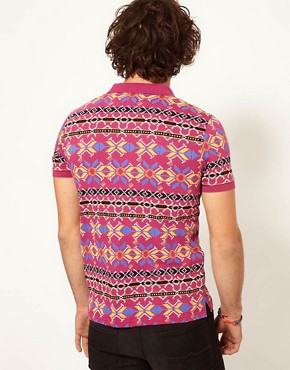 Image 2 ofASOS Polo With Geo Print