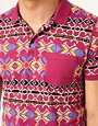 Image 3 ofASOS Polo With Geo Print