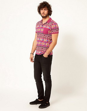 Image 4 ofASOS Polo With Geo Print