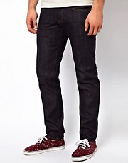 G Star - Jeans 3301 stretti in fondo in denim grezzo e rigido