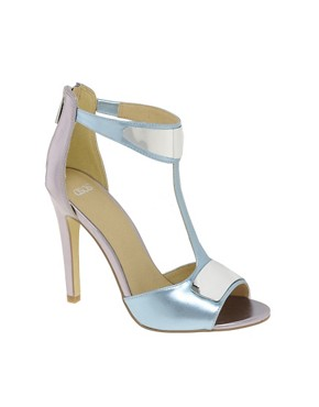 Image 1 ofASOS HASHTAG Metal Trim Heeled Sandals