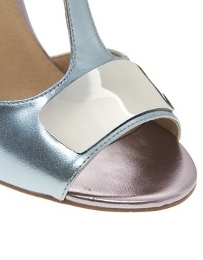 Image 2 ofASOS HASHTAG Metal Trim Heeled Sandals