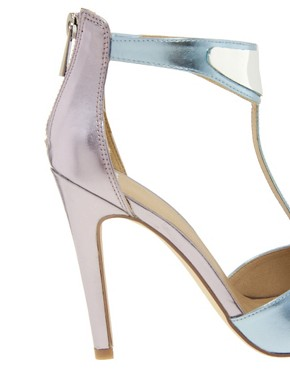 Image 4 ofASOS HASHTAG Metal Trim Heeled Sandals