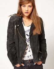 Maison Scotch Leather Biker Jacket