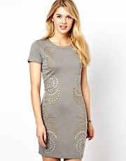 Vila Studded Bodycon Dress