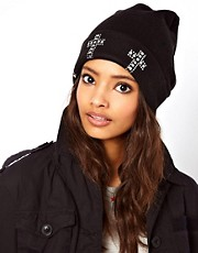 ASOS Cross Stud Boyfriend Beanie