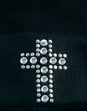 Image 3 ofASOS Cross Stud Boyfriend Beanie