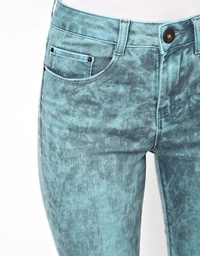 Image 3 ofASOS Ridley Supersoft High Waist Ultra Skinny Jeans In Aqua Marble Wash