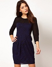 Whistles Audra Croc Print Dress