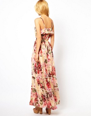 Image 2 ofYumi Floral Maxi Dress With Sequins