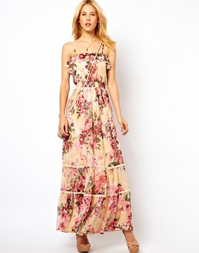 Image 4 ofYumi Floral Maxi Dress With Sequins