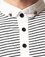 Image 3 ofReligion Skull Button Striped Polo