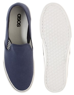 Image 3 ofASOS Slip On Plimsolls