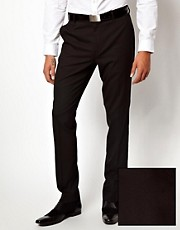 Pantalones de traje de corte pitillo en negro de ASOS