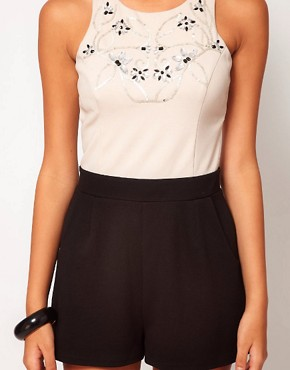 Image 3 ofLipsy Embellished Top Playsuit