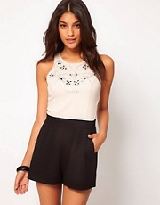 Lipsy Embellished Top Playsuit
