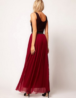 Image 2 ofLove Lace Top Pleat Maxi Dress