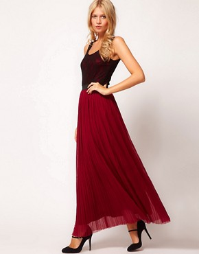 Image 4 ofLove Lace Top Pleat Maxi Dress