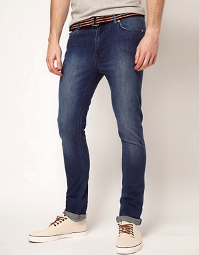 Image 1 ofASOS Super Skinny Jeans With Blue Wash