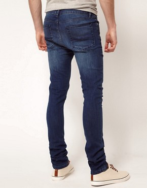Image 2 ofASOS Super Skinny Jeans With Blue Wash