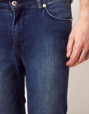 Image 3 ofASOS Super Skinny Jeans With Blue Wash