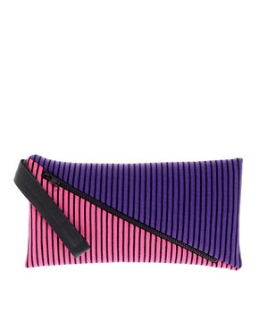 Image 1 ofHouse Of Holland Stripe Clutch