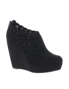 Image 1 ofNew Look Pop Lazer Cut Shoe Boots