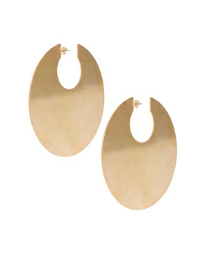 Image 1 of ASOS XL Flat Hoop Earrings