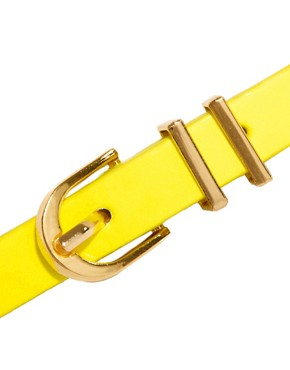 Image 2 ofASOS Neon Metal Keeper Super Skinny Belt