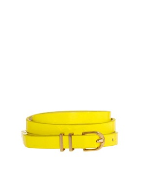 Image 1 ofASOS Neon Metal Keeper Super Skinny Belt